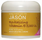Vitamin E 5,000 I.U. Moisturizing Creme 4 oz. Jason Natural Cosmetics