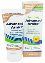 Advanced Arnica Soothing Cream 3 oz. King Bio Homeopathic