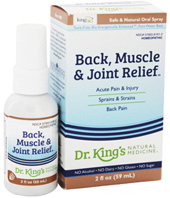 Back, Muscle & Joint Relief 2 oz. King Bio Homeopathic 2 oz. King Bio Homeopathic