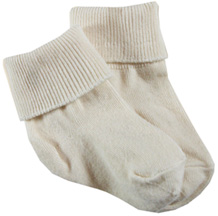 2-Pak Organic Cotton Anklet Baby Sock Natural