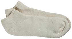 Organic Cotton Footie Solid Socks Natural
