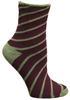 Organic Wool Holiday Snuggle Sock Candy Cane Wine Maggie's Organics