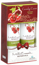 Holiday Gift Set Candy Cane, 2 pc. Mill Creek Botanicals