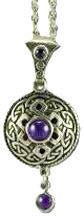 Diffuser Pendant Necklaces Celtic Antiquity/Amethyst Nature's Alchemy