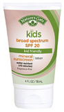 Mineral Kids Broad Spectrum Sunscreen SPF 20, 4 oz. Nature's Gate
