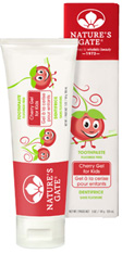 Flouride Free Toothpaste Cherry Gel For Kids 5. oz. Natures Gate