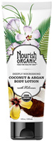 Deeply Nourishing Body Lotion Coconut Argan 8 oz. Nourish Organic