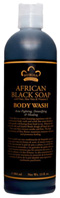 Oats, Aloe Vera & Vitamin E African Black Soap Body Wash 13 oz. Nubian Heritage