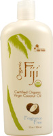 Organic Virgin Coconut Oil Fragrance Free 12 oz. Oragnic Fiji