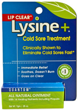 Lip Clear Lysine+ Cold Sore Treatment 0.25 oz. Quantum Inc.