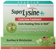 Super Lysine + Cold Sore Treatment 0.75 oz. Quantum Inc.