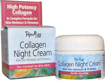 Collagen Night Cream 1.5 oz. Reviva Labs