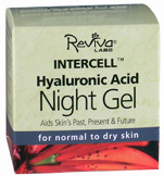 InterCell Night Gel w/ Hyaluronic Acid 1.25 oz. Reviva Labs