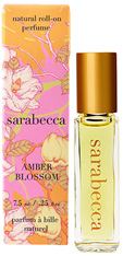 Natural Perfume Roll On Amber Blossom 0.25 oz. Sarabecca