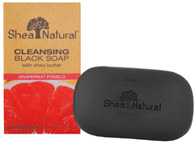 Cleansing Black Soap w/Shea Butter Grapefruit Pomelo 4.25 oz. Shea Natural