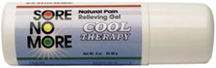 Sore No More Natural Pain Relieving Gel Cool Therapy: 3 oz. Roll-OnSombra Cosmetics