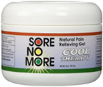 Sore No More Natural Pain Relieving Gel Cool Therapy 8 oz. Jar Sombra Cosmetics