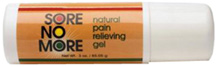 Sore No More Natural Pain Relieving Gel Warm Therapy 3 oz. Roll-On Sombra Cosmetics