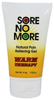 Sore No More Natural Pain Relieving Gel Warm Therapy 4 oz. Tube Sombra Cosmetics