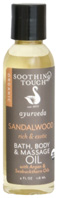 Bath & Body Oil Sandalwood Rich & Exotic 8 oz.Soothing Touch