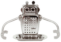 Stainless Steel Tea Infuser & Drip Tray Robot