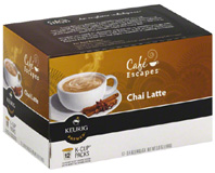 Coffee K-Cup 12 ct. Chai Latte Cafe Escapes
