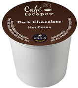 Coffee K-Cup 12 ct. Dark Chocolate Hot Cocoa Cafe Escapes
