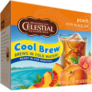 Cool Brew Iced Tea Peach 40 Tea Bags Celestial Seasonings