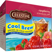 Cool Brew Iced Tea Raspberry 40 Tea Bags Celestial Seasonings