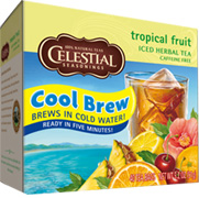 Cool Brew Iced Tea Tropical Fruit 40 Tea Bags Celestial Seasonings