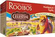 Rooibos Tea Madagascar Vanilla 20 Tea Bags Celestial Seasonings