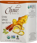 Black Tea Chai Spice 16 bags Choice Organic Teas