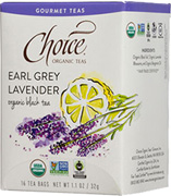 Black Tea Earl Grey Lavender 16 bags Choice Organic Teas