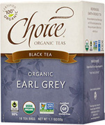 Black Tea Earl Grey 16 bags Choice Organic Teas