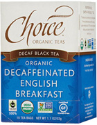 Black Tea Decaf English Breakfast 16 bags Choice Organic Teas