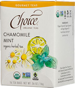 Herbal Tea Chamomile Mint 16 bags Choice Organic Teas