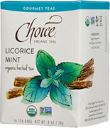 Herbal Tea Licorice Mint 16 bags Choice Organic Teas