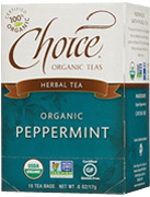 Herbal Tea Peppermint 16 bags Choice Organic Teas