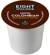 Coffee K-Cup 18 ct. 100% Colombian Eight O'Clock