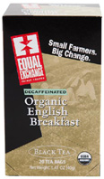 Organic Black Tea English Breakfast Decaf 20 bags Equal Exchange
