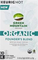 Organic Coffee K-Cup 10 ct. Founder's Blend Green Mountain Coffee Organic