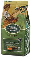 Coffee Whole Bean House Blend Decaf 12 oz. Green Mountain Coffee