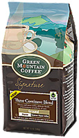 Coffee Ground Three Continent Blend 10 oz. Green Mountain Coffee