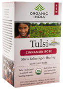 Tulsi Tea Cinnamon Rose 18 Tea Bags Organic India Tea