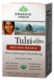 Tulsi Tea Red Chai Masala 18 Tea Bags Organic India Tea