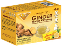 Instant Ginger Honey Crystals with Lemon, 10 Ct. Prince of Peace