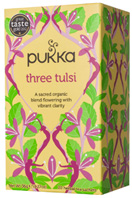 Herbal Tea Three Tulsi 20 bags Pukka Herbs
