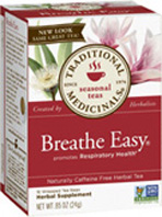 Seasonal Tea Breathe Easy 16 Tea Bags Traditional Medicinals