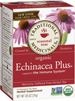 Seasonal Tea Echinacea Plus 16 Tea Bags Traditional Medicinals
