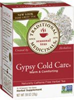 Seasonal Tea Gypsy Cold Care 16 Tea Bags Traditional Medicinals